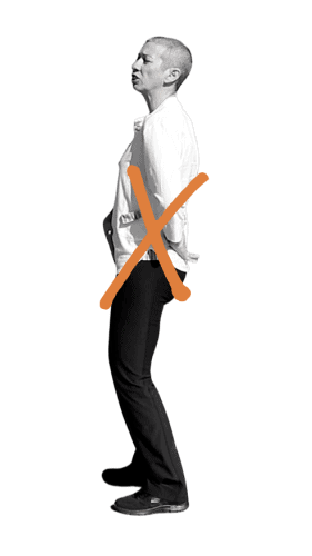 Postura de Wu Ji incorrecta